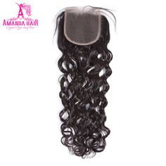 Amanda Malaysia Water Wave Lace Closure Remy Hair 4*4 Middle Part Top Closure 100% Natural Color Human Hair. Yesterday's price: US $61.73 (51.10 EUR). Today's price: US $37.66 (31.17 EUR). Discount: 39%.