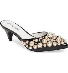 Main Image - Jeffrey Campbell Jena Imitation Pearl Embellished Sandal (Women)