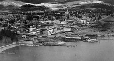 Then and Now photos: Coeur d'Alene waterfront Coeur D'alene Idaho, Coeur D Alene Resort, Living In Alaska, Isle Of Man, City Beach, Abandoned Places, Historical Photos, Wyoming, Paris Skyline
