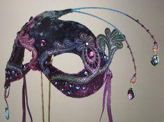 Purple Masquerade Mask by leopardsleap on Etsy, $79.00