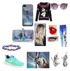 """""""frozen"""" by kylee-bannister ❤ liked on Polyvore featuring Disney, Charlotte Tilbury, Quay, NIKE, Under Armour and Samsung"""
