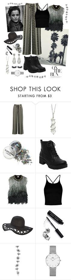 """emma-a-like"" by combinestuff ❤ liked on Polyvore featuring Emma Watson, M&Co, Sharon Khazzam, Haute Hippie, Boohoo, Bobbi Brown Cosmetics and Daniel Wellington"