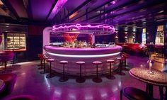 Bar area - Jacu Strauss and his team at LORE Studio design Ryan Chetiyawardana s Super Lyan cocktail bar at the De Witt Hotel Amsterdam Cocktail Bar Design, Led Neon, Nightclub Design, Cocktail Movie, Cocktail Sauce, Cocktail Shaker, Cocktail Recipes, Bar Interior Design, Lounge Design