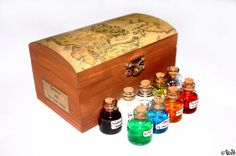 Game of Thrones inspired set of 9 vials Westeros by UrdHandicrafts, $80.00