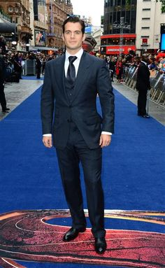 "No. 13: Henry Cavill The ""Man of Steel"" star looked, well, super in a three-piece suit by Tom Ford at the U.K. premiere of his film on June 12, 2013."