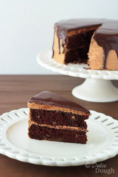 Chocolate Peanut Butter Cake with Ganache Glaze