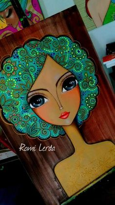African Art Paintings, Arte Popular, Sketch Painting, Art Journal Inspiration, Whimsical Art, Face Art, Diy Art, Art Girl, Watercolor Art