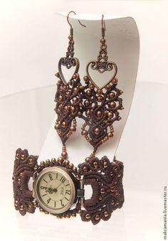"Bracelet Watch ""Venice"" by Yuna Titarenko (Macramania)"