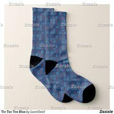 Shop Tic Tac Toe Blue Socks created by LeonOziel. Blue Socks, White Elephant Gifts, Christmas Card Holders, Keep It Cleaner, Your Design, Comfy, Tic Tac, Unisex, Christmas Holiday