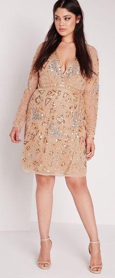 Plus size premium embellished dress