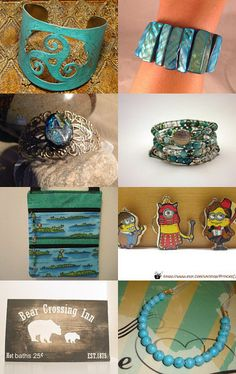 Turquoise and Tan by Lorraine on Etsy--Pinned with TreasuryPin.com