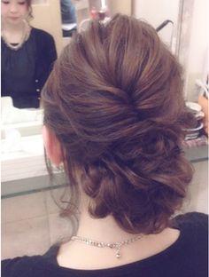 しためルーズアレンジ☆ Wedding Updo, Wedding Gowns, Up Hairstyles, Wedding Hairstyles, Hair Up Styles, Hair Arrange, Hair Dos, Gorgeous Hair, Hair Hacks