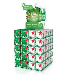 HEINEKEN USA, a leading importer of upscale beer brands, is upping the stakes on game day with its What's Your Play? Pallet Display, Wine Display, Pos Design, Display Design, Graphic Design, Beer Sales, All Beer, Beer Brands, Play S