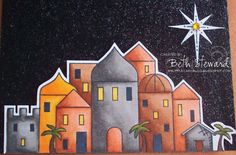 bethlehem in first christmas card | Beth's Little Card Blog: Bethlehem