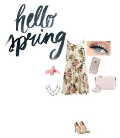 """""""Spring Contest Outfit!!!"""" by swiftie4ever1989 ❤ liked on Polyvore featuring VILA, Giambattista Valli, Kate Spade, Elizabeth Arden, Givenchy, Rifle Paper Co and springflorals"""