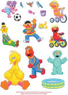 Welcome to Dover Publications Sesame Street Muppets, Sesame Street Characters, Sesame Street Party, Sesame Street Birthday, Preschool Cubbies, Preschool Themes, Elmo Plaza Sesamo, Jim Henson Puppets, Cricut Christmas Ideas