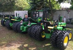 Here are a few of my 1/2 scale tractors with duel tires