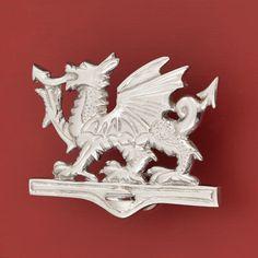 Welsh Dragon Brass Door Knocker - Chrome