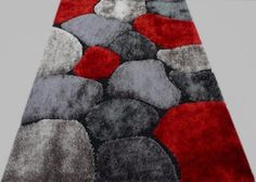FLASH SHAGGY AREA RUG 658 RED 5 BY 7