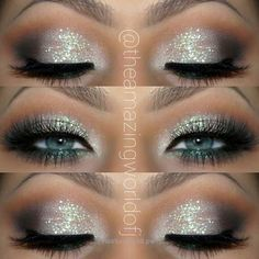 Neat Glitter Eye Makeup Idea for Blue Eyes The post Glitter Eye Makeup Idea for Blue Eyes… appeared first on Beauty and Fashion .