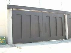 Imagen relacionada Gate Design, Door Design, Fence Panels, Fireplace Mantels, Outdoor Furniture, Outdoor Decor, Brick, Pergola, Garage Doors