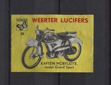 Kaptein Mobylette Grand Sport Motorbike/Moped Vintage Matchbox Label No.16 | eBay