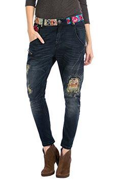 Desigual Broke Deluxe - Jeans - Boyfriend - Femme - Bleu (Navy) - W24 (Taille…