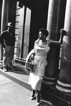 Billie Holiday, Harlem, 1956. Photo by Moneta Sleet