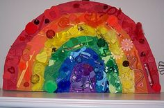 rainbow painting then colour bits and pieces
