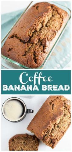 This Coffee Infused Banana Bread is the best banana bread recipe ever Its easy to make and accented with a rich coffee flavor This banana bread is moist and great for bre. New Year's Desserts, Single Serve Desserts, Peanut Butter Desserts, Winter Desserts, Delicious Desserts, Homemade Desserts, Party Desserts, Homemade Breads, Winter Recipes