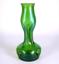Lötz Jugendstil Glas Vase irisierend Art Nouveau Glass Vase iridescent Loetz + +