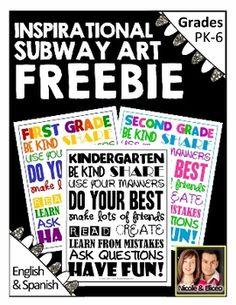 FREEBIE ALERT! Back to School Mini Inspirational Posters