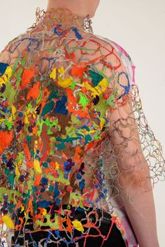 Good use of colour and textures New Project Ideas, Textiles, Fashion Art, Fashion Design, Fabric Manipulation, Fashion Lookbook, Couture Dresses, Colorful Fashion, Textile Design