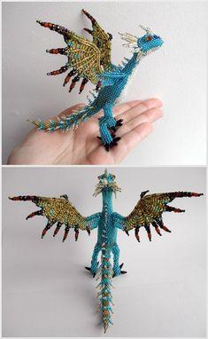 Spiky dragon (beading) by Rrkra.deviantart.com on @deviantART