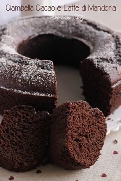 Torta al Cacao e Latte di Mandorla, ricetta senza burro e senza olio