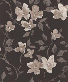 Vackert slingrande blommönster från kollektionen Livium LIV202. Klicka för att se fler #inspirerande #tapeter för ditt hem!