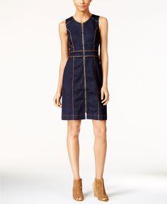 INC International Concepts Denim Sheath Dress, Only at Macy's | macys.com