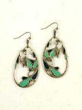 'Boho' Peacock Earrings