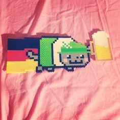 German Nyan Cat perler beads by nitasadventures