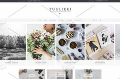 TUULIKKI Nordic Blog & Shop Theme by Sparrow & Snow on  @creativemarket Tuulikki is a theme for everyone, designed for personal and creative use. Thanks to its integrated WooCommerce function, it is also suitable for those wishing to launch a commercial activity.