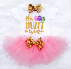 9f9d075f80 Easter Outfit   Easter Tutu Set   The Hunt Is On   Baby Girl Easter Outfit