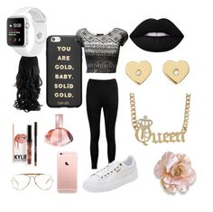 """know pink pantha like ta SWANG 😂"" by mostroyaltrin ❤ liked on Polyvore featuring CÉLINE, Calvin Klein, Boohoo, Michael Kors, ban.do and Puma"