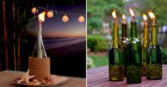 Návod na originální svícny z lahví od vína + video