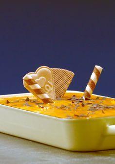 Solero-Dessert mit Pfirsichen und Maracujasaft