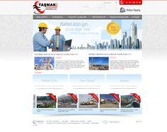 Taşmak Madencilik web tasarım çalışması, mining web design