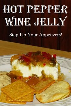 Hot Pepper Wine Jelly can be as mild or hot as you'd like. Choose the hot pepper corresponding to the amount of heat you want. via Life In The Wild Jalapeno Pepper Jelly, Pepper Jelly Recipes, Hot Pepper Jelly, Jam Recipes, Canning Recipes, Wine Recipes, Dessert Recipes, Wine Jelly, Jam And Jelly