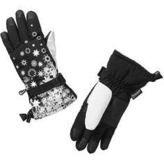 Cold Front Ladies Winter Sport Glove w/Snowflakes, Women's, White