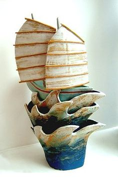 Ceramics by Terri Smart at Studiopottery.co.uk - Jade Princess - Produced in 2003. Stoneware. approx. 54cm tall.