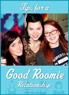 Tips for a Good Roomie Relationship - Rent.com Blog  #roommates #roomies