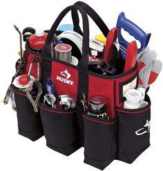 Husky 14 Inch 15-Pocket Supply Portable Tool Storage Bag Tote #LFPRODUCTSPTELTD